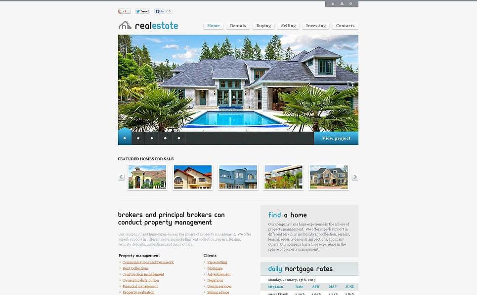 Flash CMS шаблон на тему агентство нерухомості New Screenshots BIG