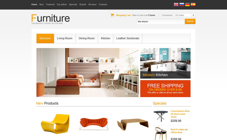 Furniture for Your Comfort OsCommerce Template