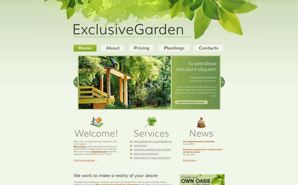 Garden Design Moto Cms Html Template 45617