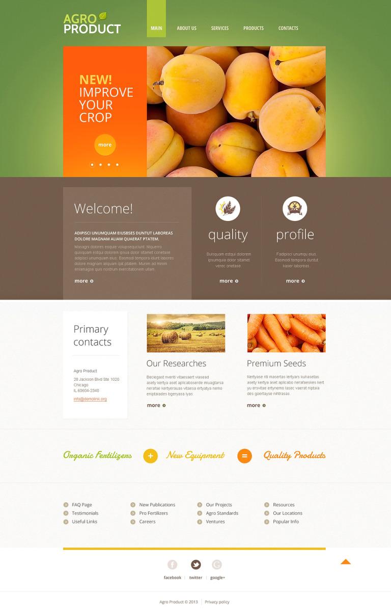 Gardening Responsive Website Template New Screenshots BIG
