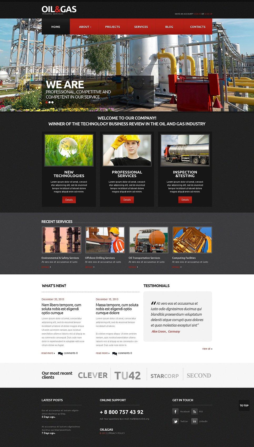 Gas & Oil Responsive Website Template #45692