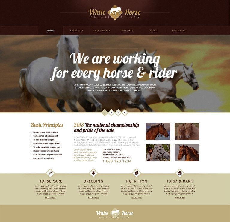 Gorgeous Horses WordPress Theme New Screenshots BIG