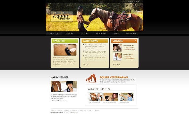 Horse Moto CMS HTML Template New Screenshots BIG