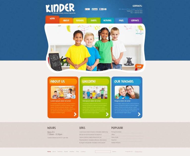 Kids Center Flash CMS Template New Screenshots BIG