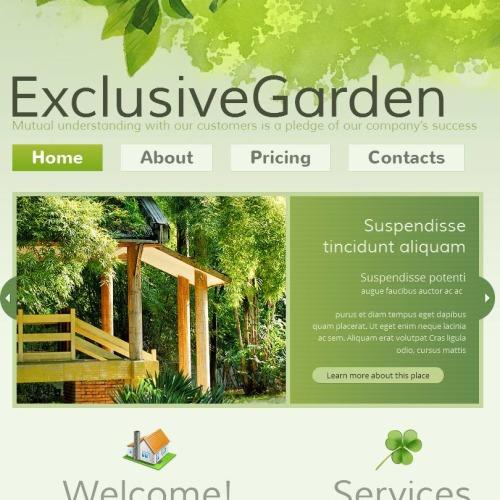 Exclusive Garden - Facebook HTML CMS Template