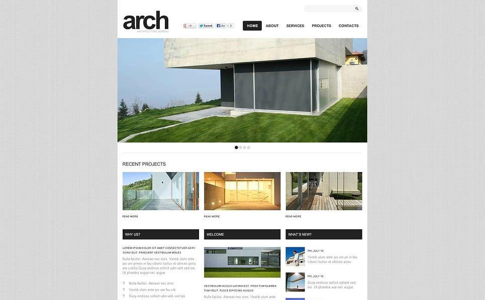 Modèle Flash CMS  pour site d'agence immobilière New Screenshots BIG