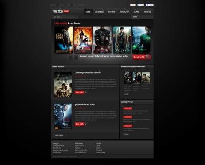 Modèle Flash CMS  pour site de films
