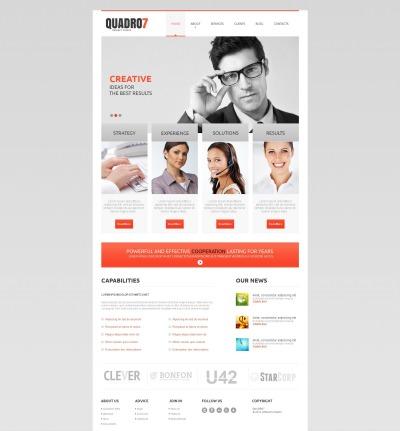 Outsourcing Company Tema Moto CMS HTML