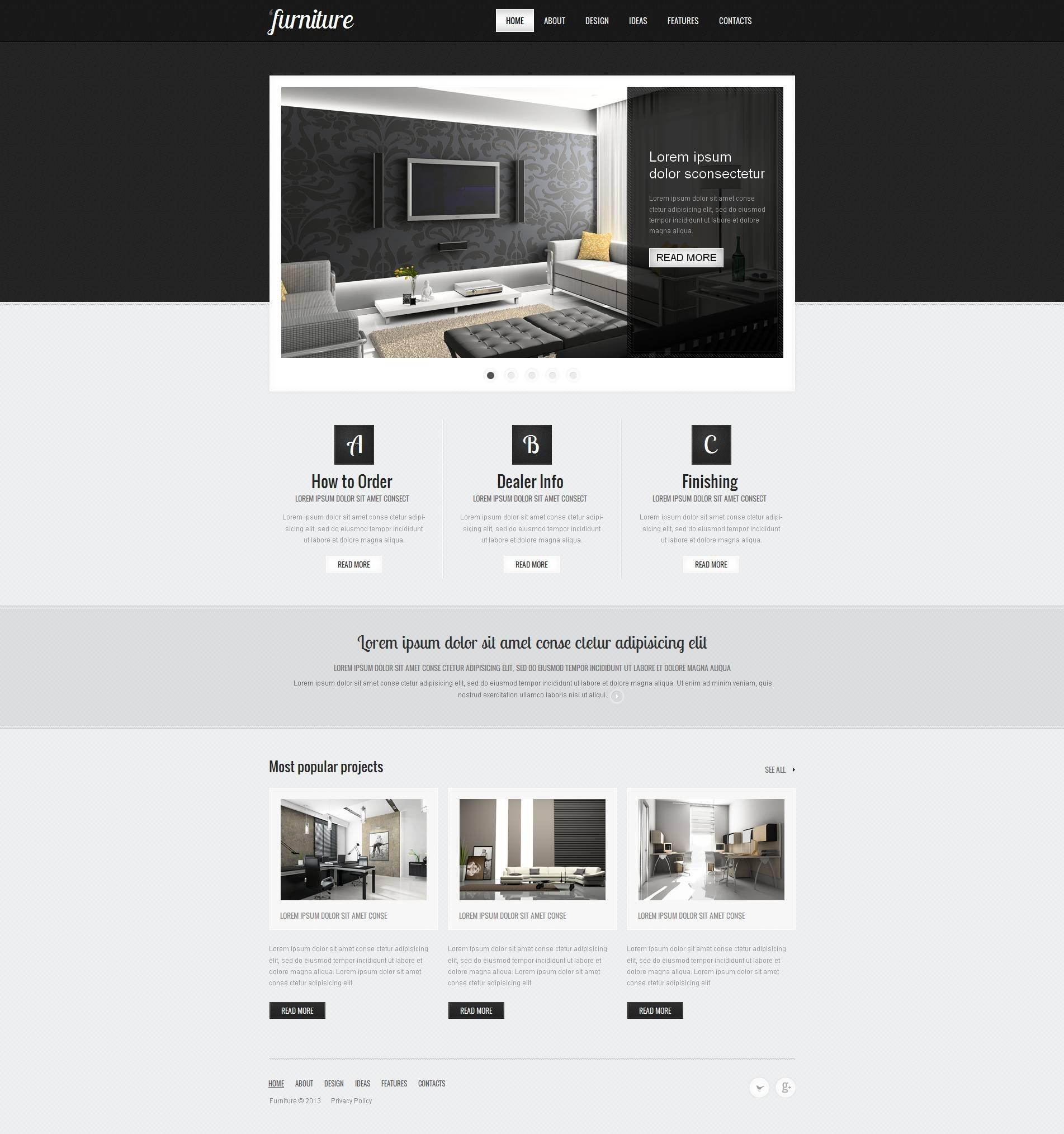Moto CMS HTML Vorlage für Möbel #45623