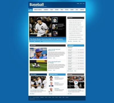 MotoCMS HTML шаблон №45621 на тему бейсбол