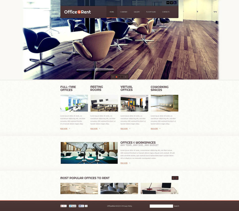Office Flash CMS Template New Screenshots BIG
