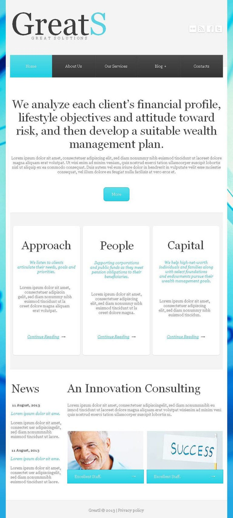 Outsourcing Company Facebook HTML CMS Template New Screenshots BIG