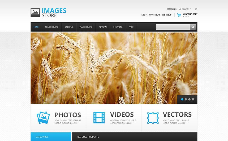 Plantilla ZenCart #45679 para Sitio de Clip Art New Screenshots BIG