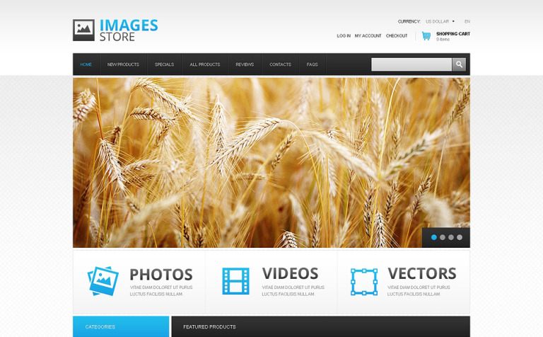 Quality Images Store ZenCart Template