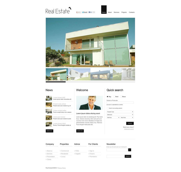 Real Estate Agency Flash CMS Template New Screenshots BIG