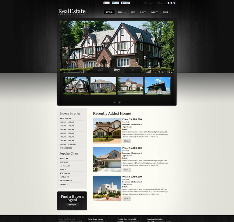 Real Estate Flash CMS Template New Screenshots BIG