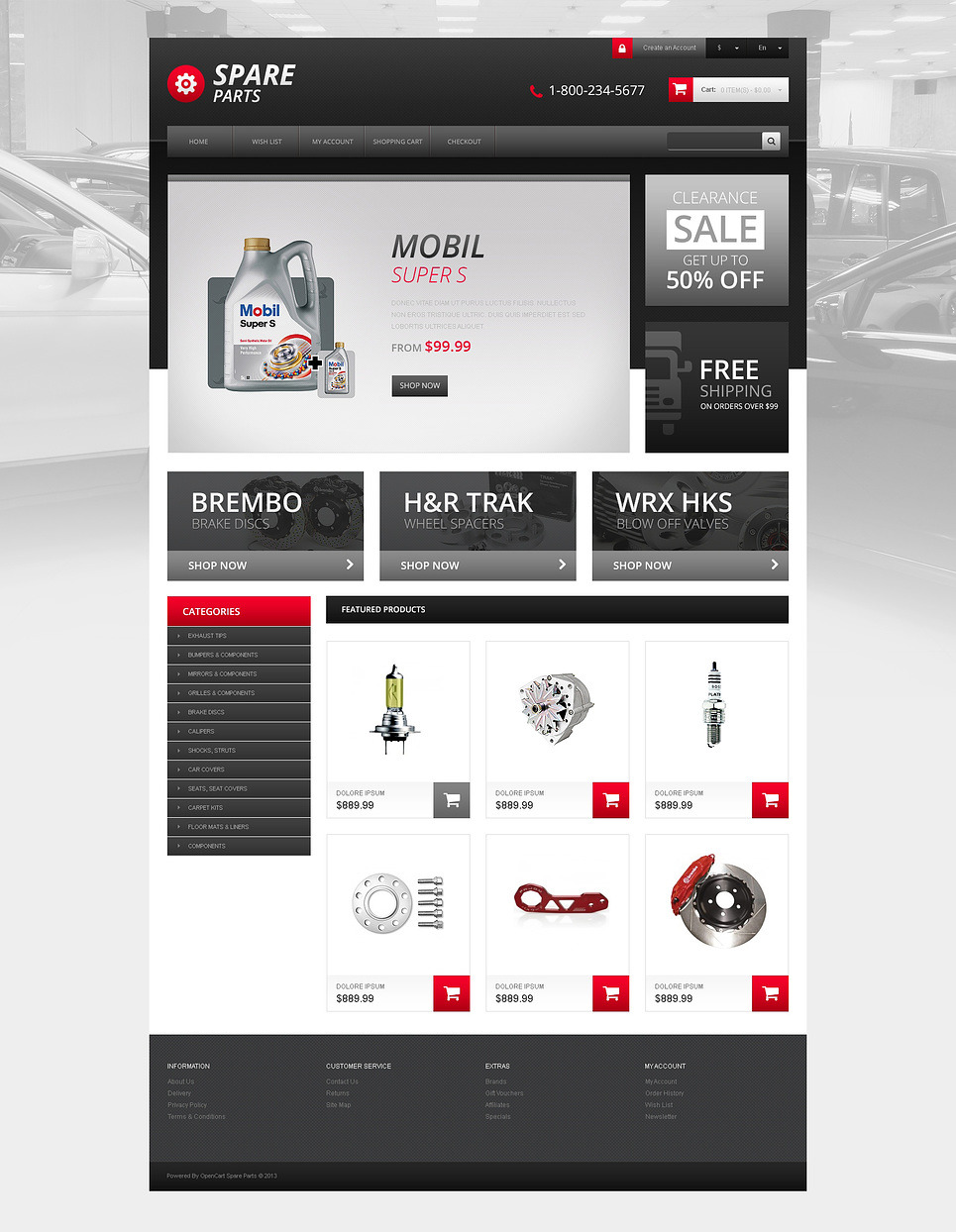 Responsive Spares Store OpenCart Template New Screenshots BIG