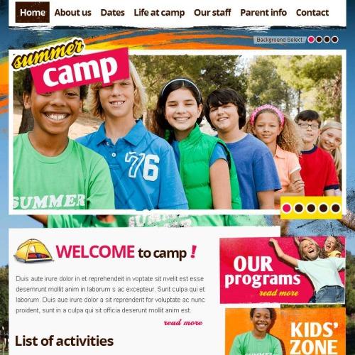 Summer Camp - Facebook HTML CMS Template