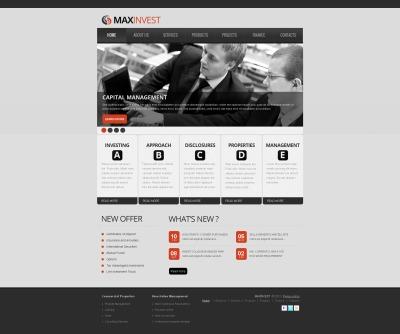 Investment Company Tema Moto CMS HTML