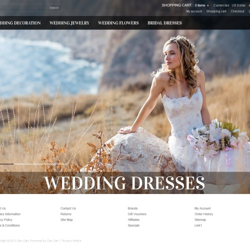 Wedding Dresses - HTML5 ZenCart Template