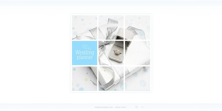 Wedding Planner Flash CMS Template New Screenshots BIG