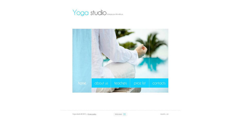 Yoga Flash CMS Template New Screenshots BIG