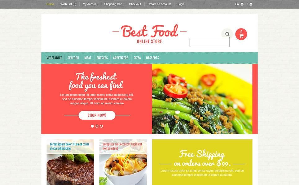 Responsywny szablon OpenCart #45704 na temat: sklep z żywnością New Screenshots BIG