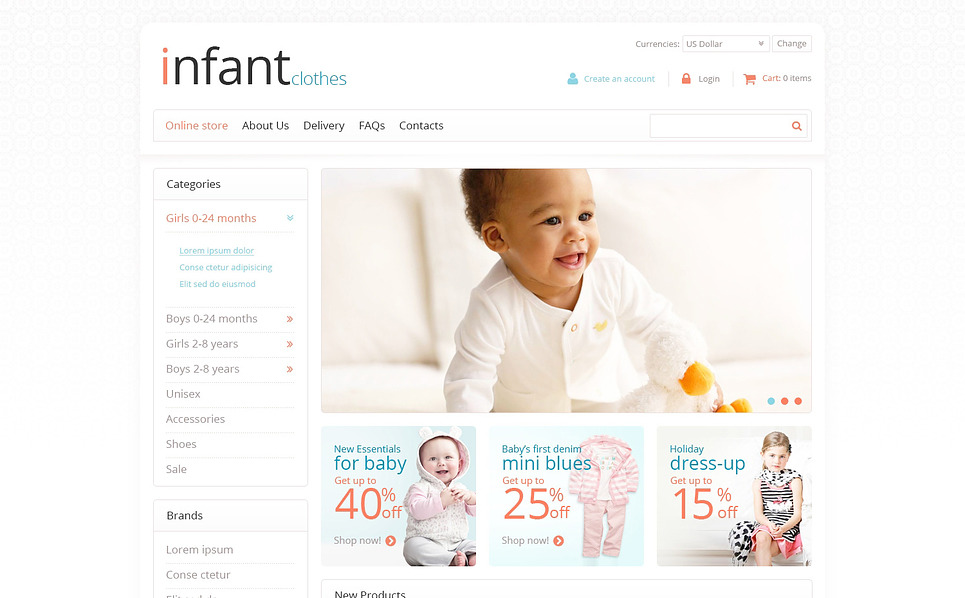 Szablon VirtueMart #45722 na temat: noworodek New Screenshots BIG
