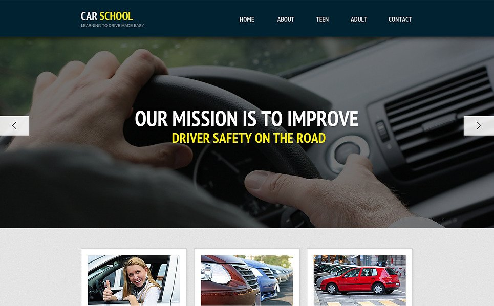 Template Web Flexível para Sites de Escola de Trânsito №45729 New Screenshots BIG
