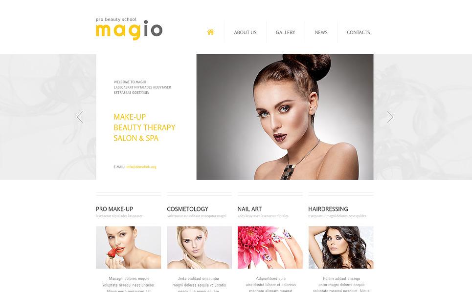 Template Web Flexível para Sites de Salão de Beleza №45733 New Screenshots BIG