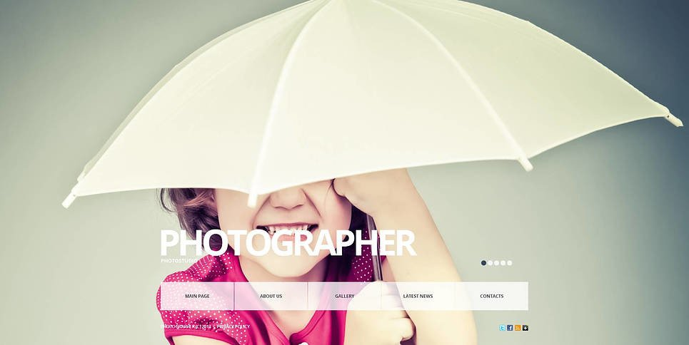 Premium Foto Galerij Template over Fotograaf Portfolio New Screenshots BIG