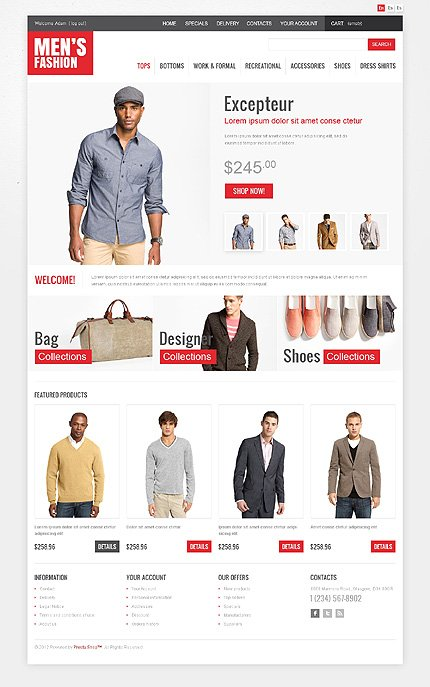 osCommerce Template 45743 Main Page Screenshot