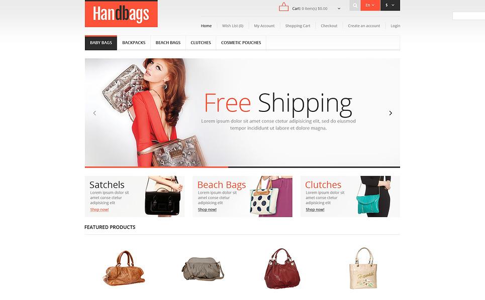 """""""Magasin de sacs à main adaptatif"""" thème OpenCart  New Screenshots BIG"""