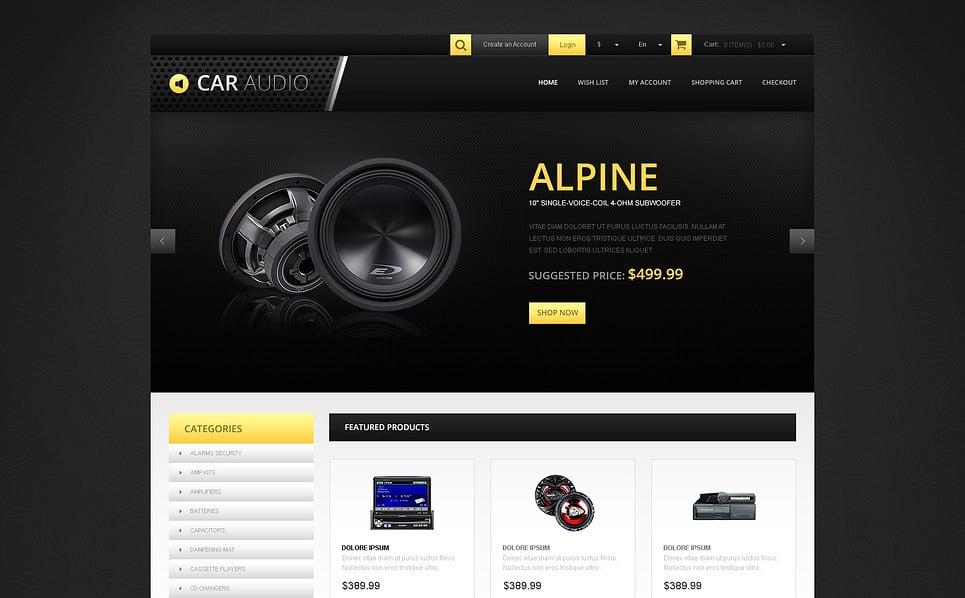 Reszponzív Autó hangtechnika  OpenCart sablon New Screenshots BIG