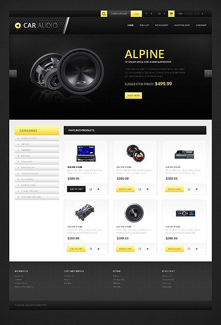 ADOBE Photoshop Template 45745 Home Page Screenshot