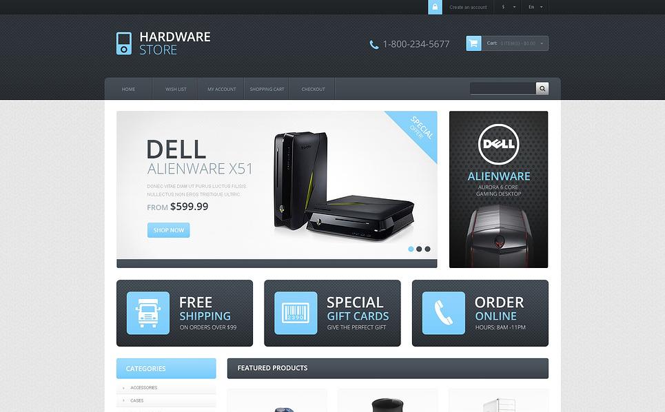 Tema OpenCart Responsive #45747 per Un Sito di Negozio di Computer New Screenshots BIG