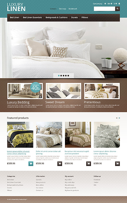 ADOBE Photoshop Template 45748 Home Page Screenshot