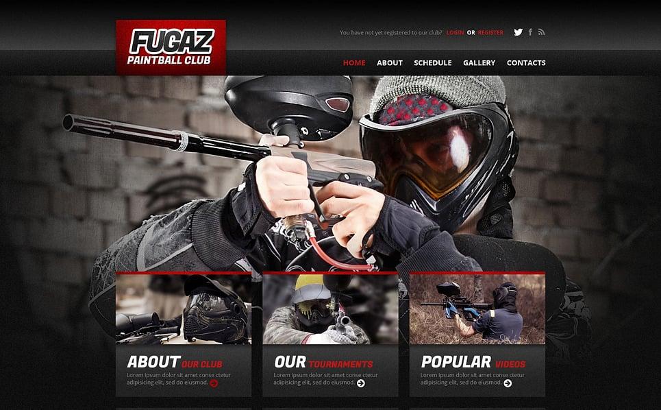 Reszponzív Paintball Weboldal sablon New Screenshots BIG