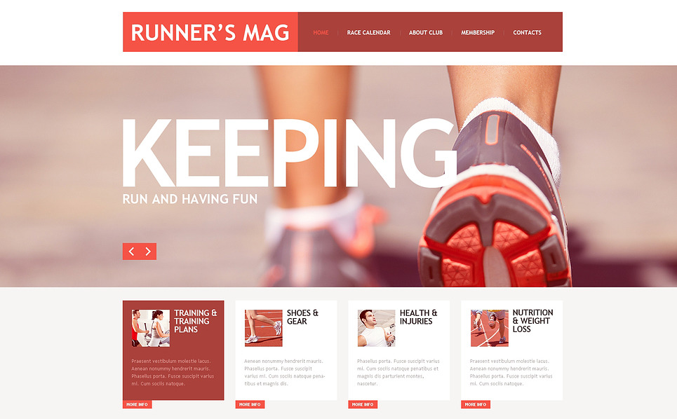 Responsive Website template over Hardlopen  New Screenshots BIG