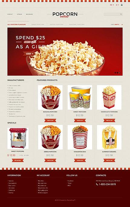 ADOBE Photoshop Template 45765 Home Page Screenshot