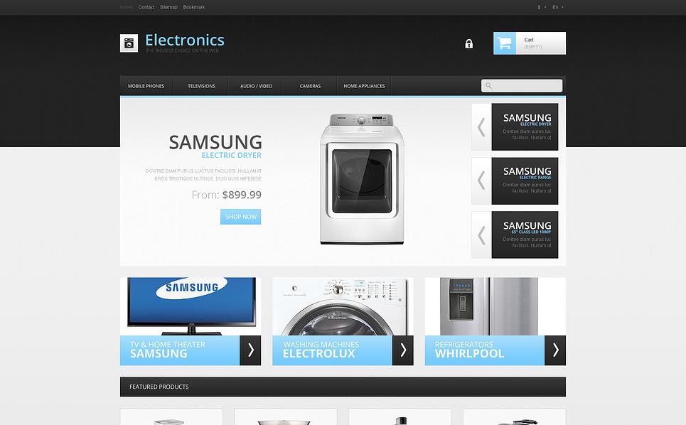 "PrestaShop Theme namens ""Responsive Elektronikgeschäft"" New Screenshots BIG"