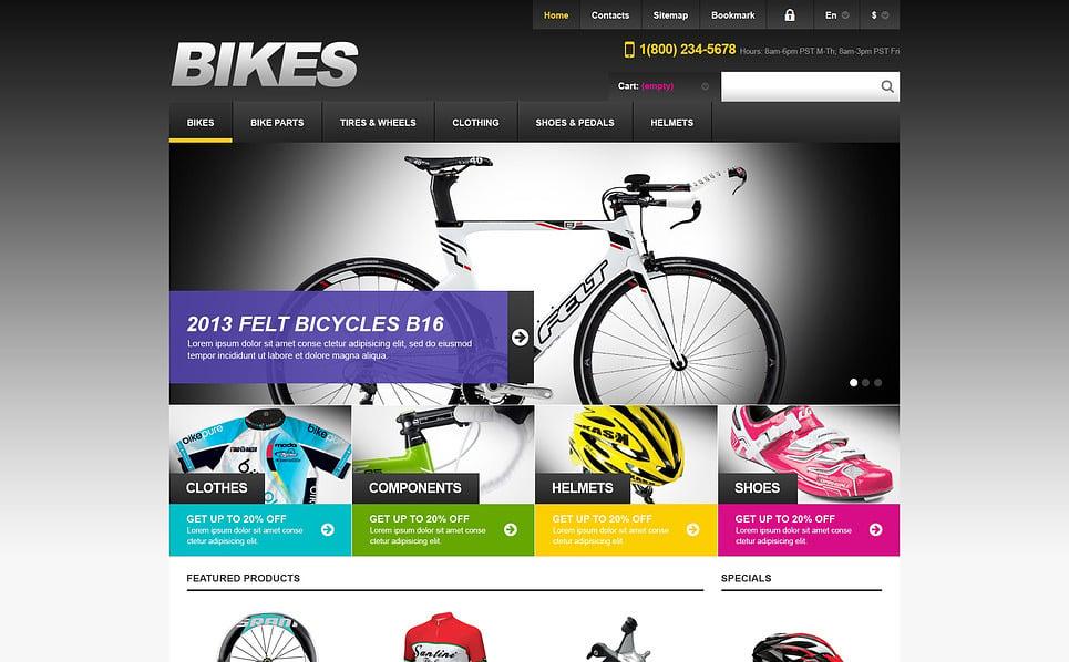 Responsive Bisikletçilik  Prestashop Teması New Screenshots BIG