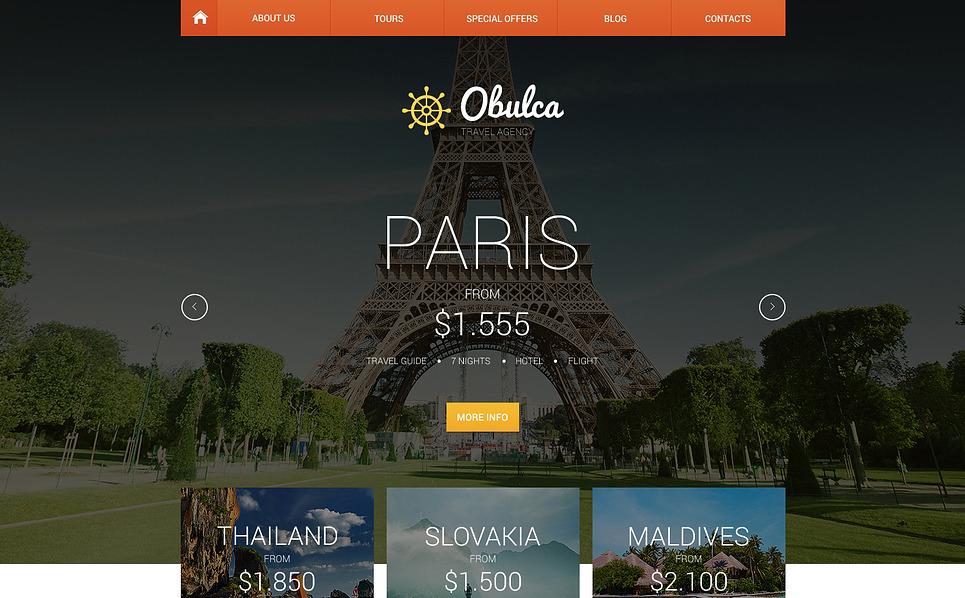 Адаптивний Шаблон сайту на тему туристичне агентство New Screenshots BIG