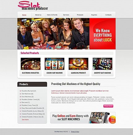 ADOBE Photoshop Template 45778 Home Page Screenshot