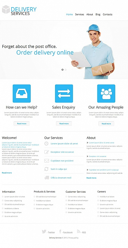 ADOBE Photoshop Template 45780 Home Page Screenshot