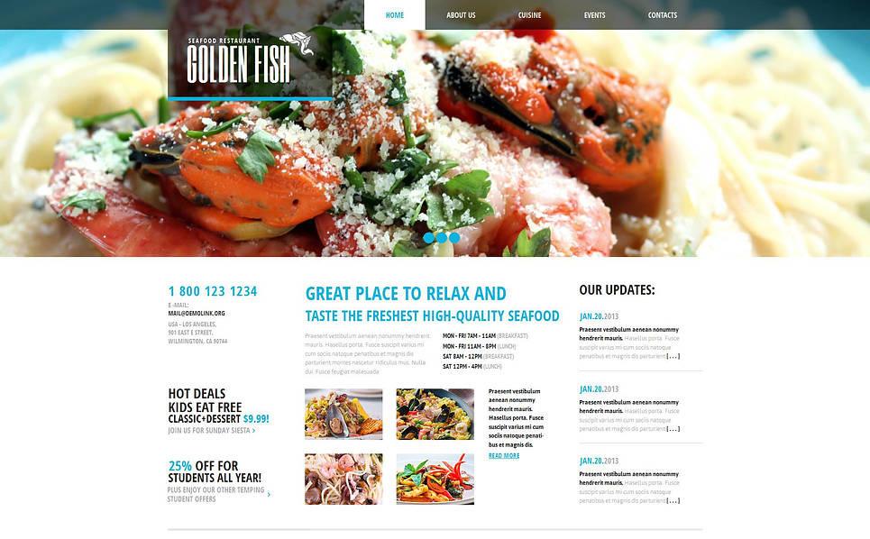 MotoCMS HTML шаблон №45785 на тему Шаблон ресторана морепродуктов New Screenshots BIG