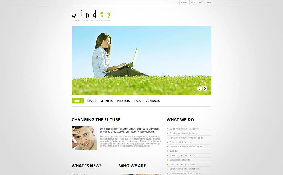 Premium Moto CMS HTML Template over Windenergie New Screenshots BIG
