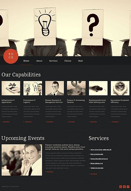 ADOBE Photoshop Template 45788 Home Page Screenshot