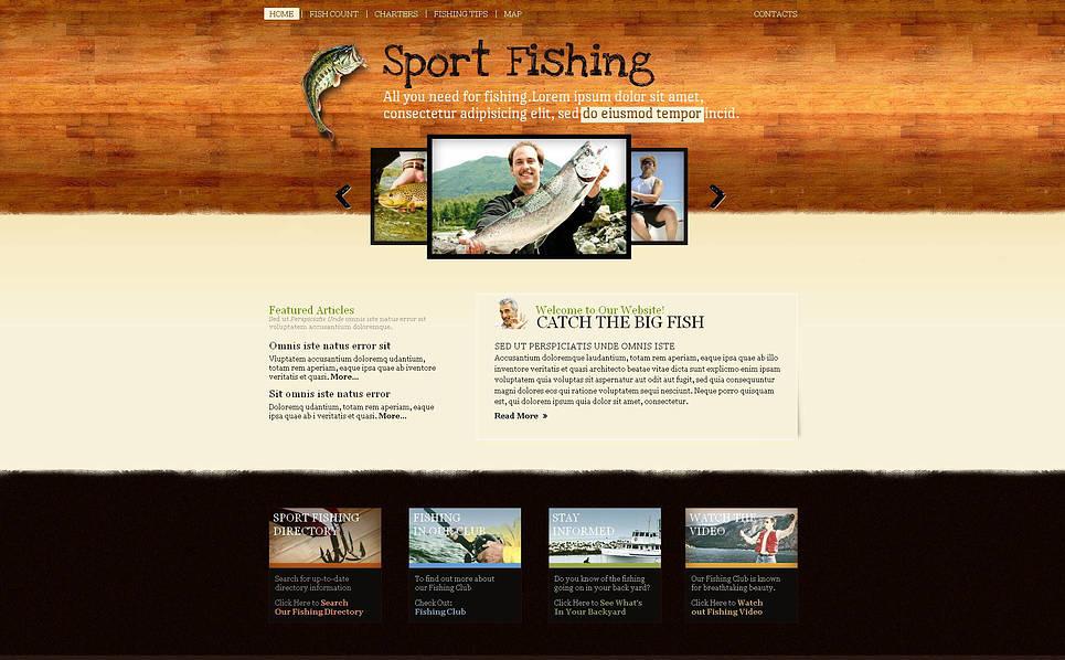 Prémium Halászat Moto CMS HTML sablon New Screenshots BIG