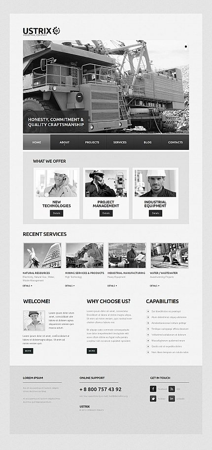 ADOBE Photoshop Template 45791 Home Page Screenshot